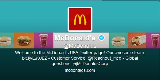 Best Cool Twitter Headers mcdonals hamburger fast food restaurant