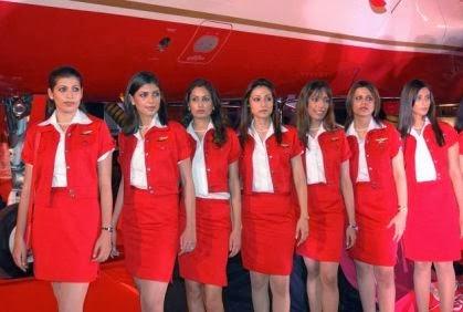 شركة طيران لا توظف إلا الإناث لسبب غريب جدا - مضيفات مضيفة طاقم طائرة - air hostess outfit crew