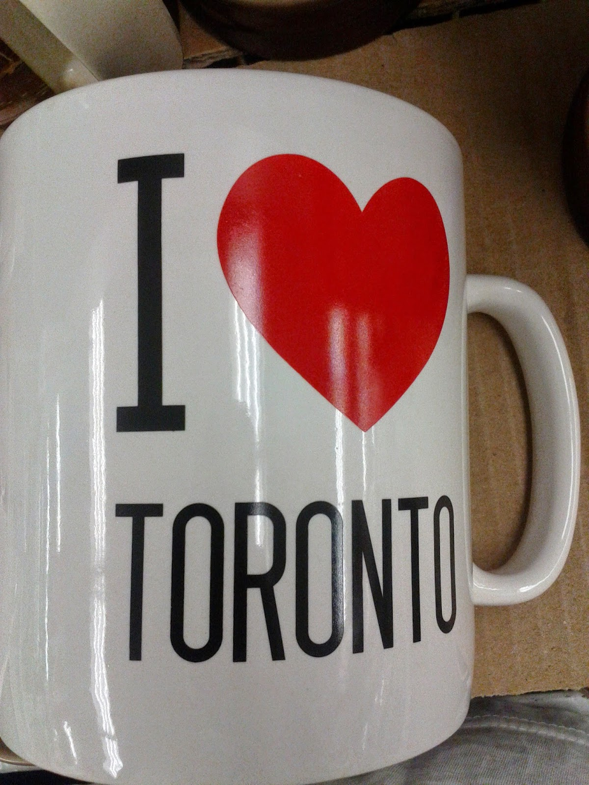 Stock photo: I heart Toronto coffee mug (white)