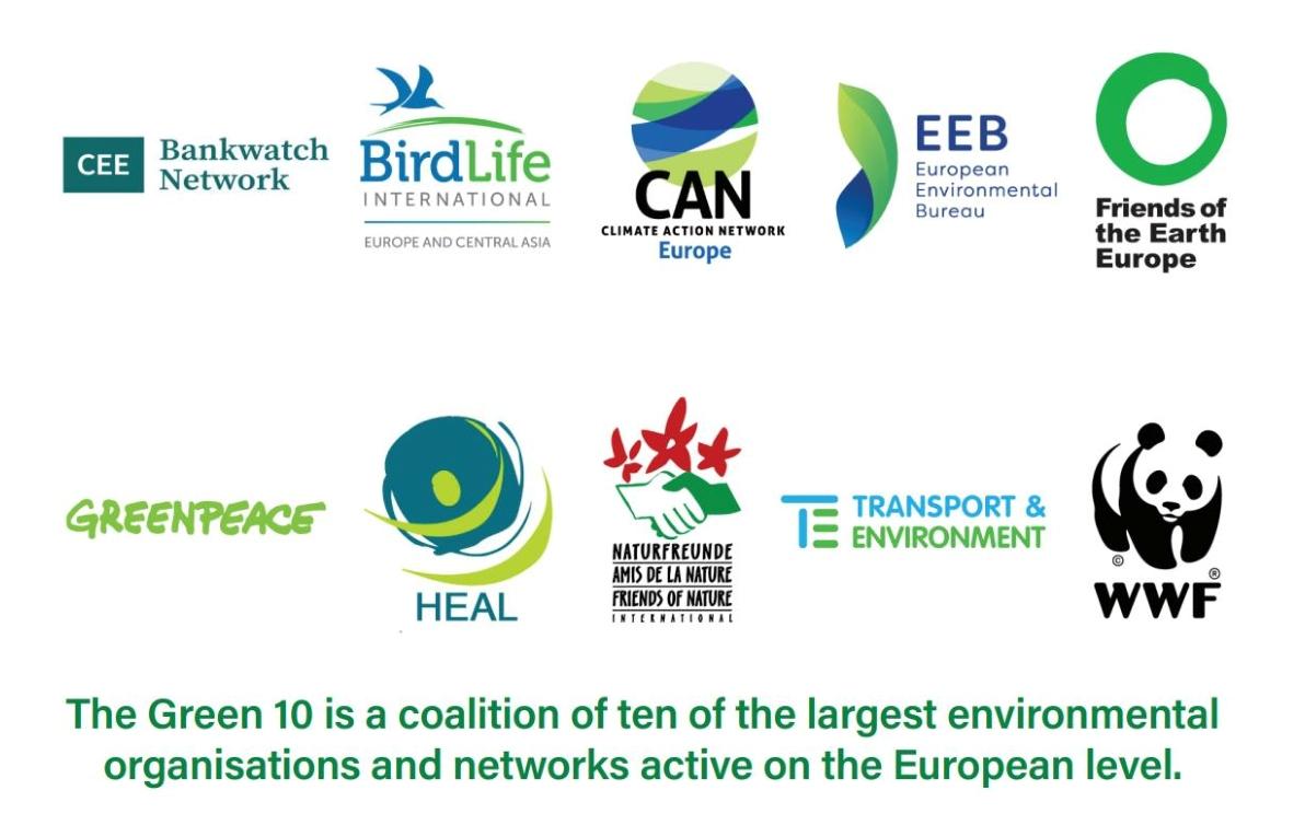 GREEN10 - Συνασπισμός των 10 ΜΚΟ στην Ευρώπη