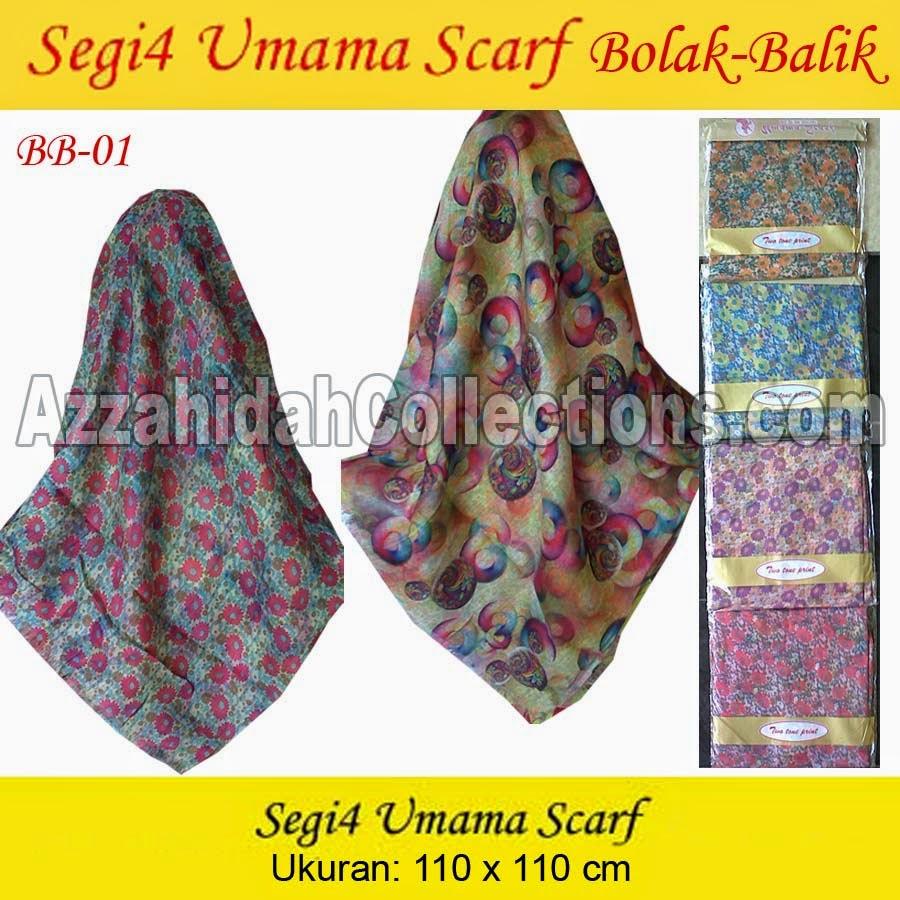 Jilbab Segi Empat Umama Scarf Bolak Balik - www.azzahidahcollections.com