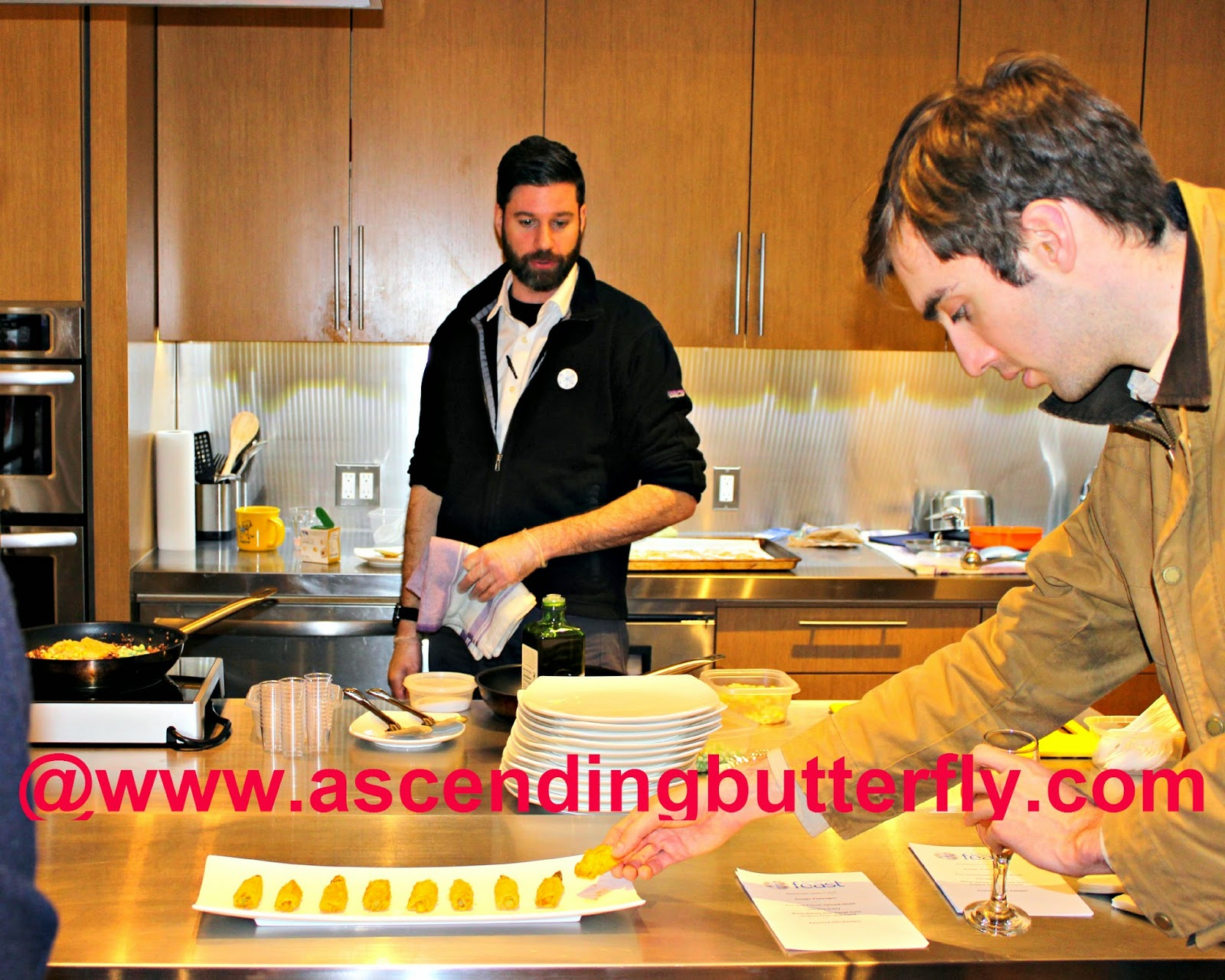 Preparing Babeth's Feast Crispy Asiago Asparagus appetizer