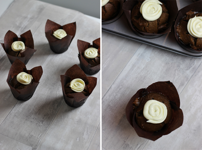 Easy Gingerbread Muffins Recipe with Cream Cheese Frosting