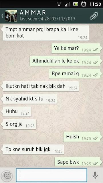 Perbualan Terakhir Allahyarham Ahmad Ammar Dengan Kakaknya - Terbakor