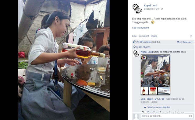 Students in Uniform Having a Drinking Session Went Viral Online