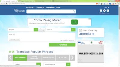 Dictionary.com, translator berbagai bahasa