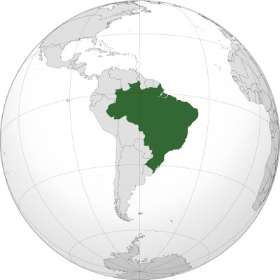 Ubicacin geogrfica de Brazil en el mundo