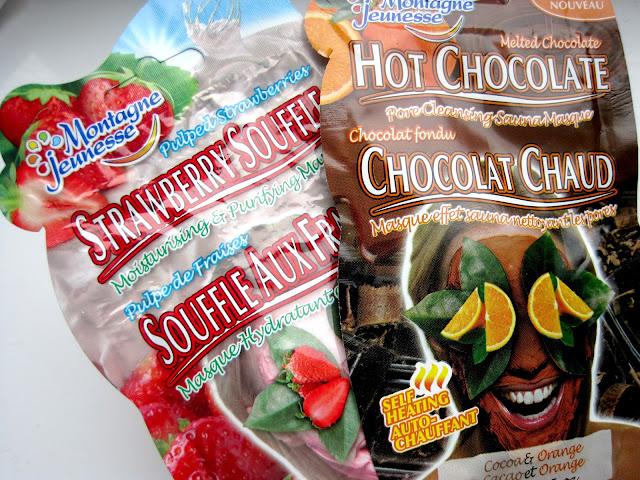 montagne jeunesse hot choco orange cocoa heating face mask montagne jeunesse strawberry souffle face mask