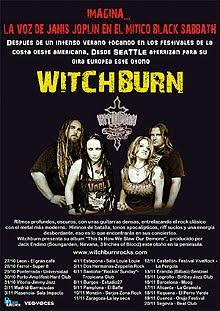 La gira Española de Witchburn continua en Noviembre con más conciertos