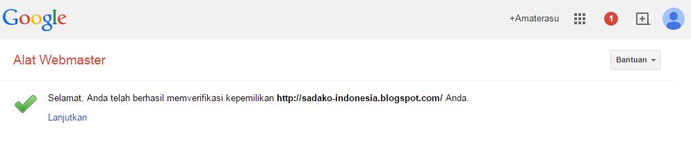 Cara mendaftarkan blog/ website di Google Webmaster 9
