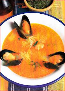 Sopa de Choros y Fideos
