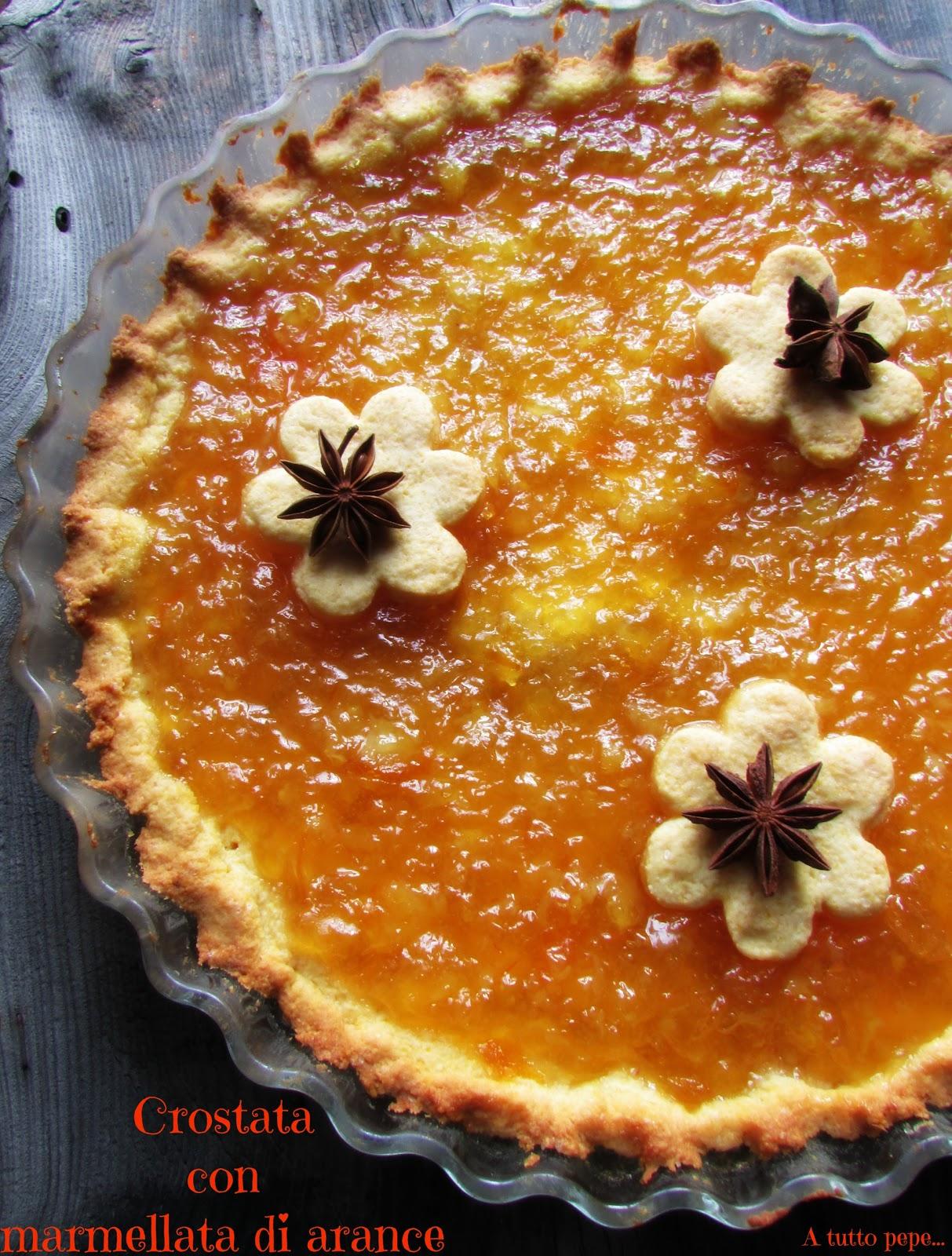 crostata con marmellata di arance con frolla light al mais e yogurt... benvenuta primavera!