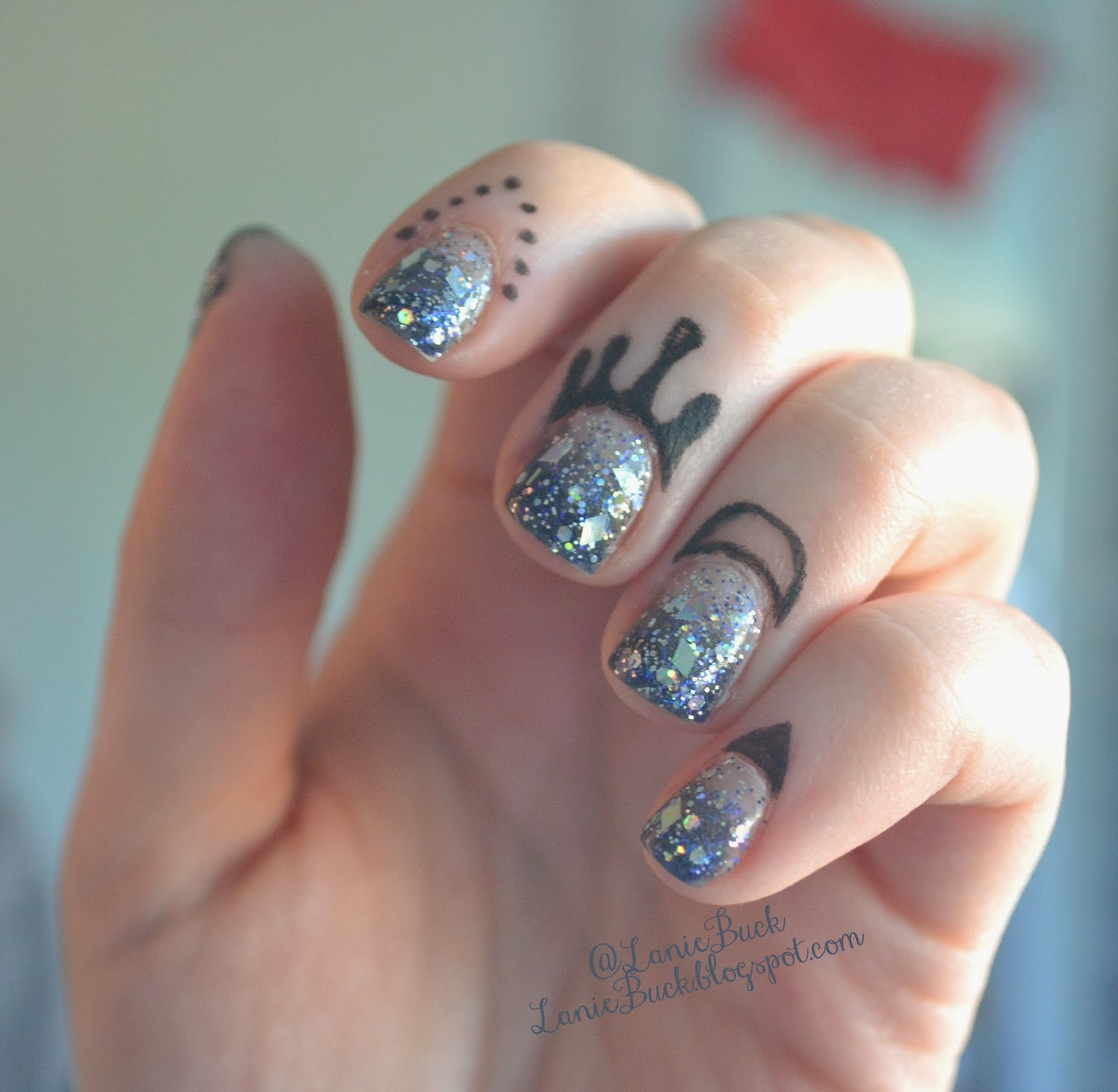 Diy beauty cuticle tattoos with no transfers for Tattoo dots on fingers meaning