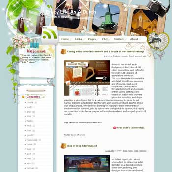 Enjoy Life As A Dutch Blogger Template. free download template blogspot