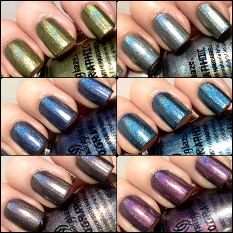 China Glaze Hologlam Collection Swatch Review