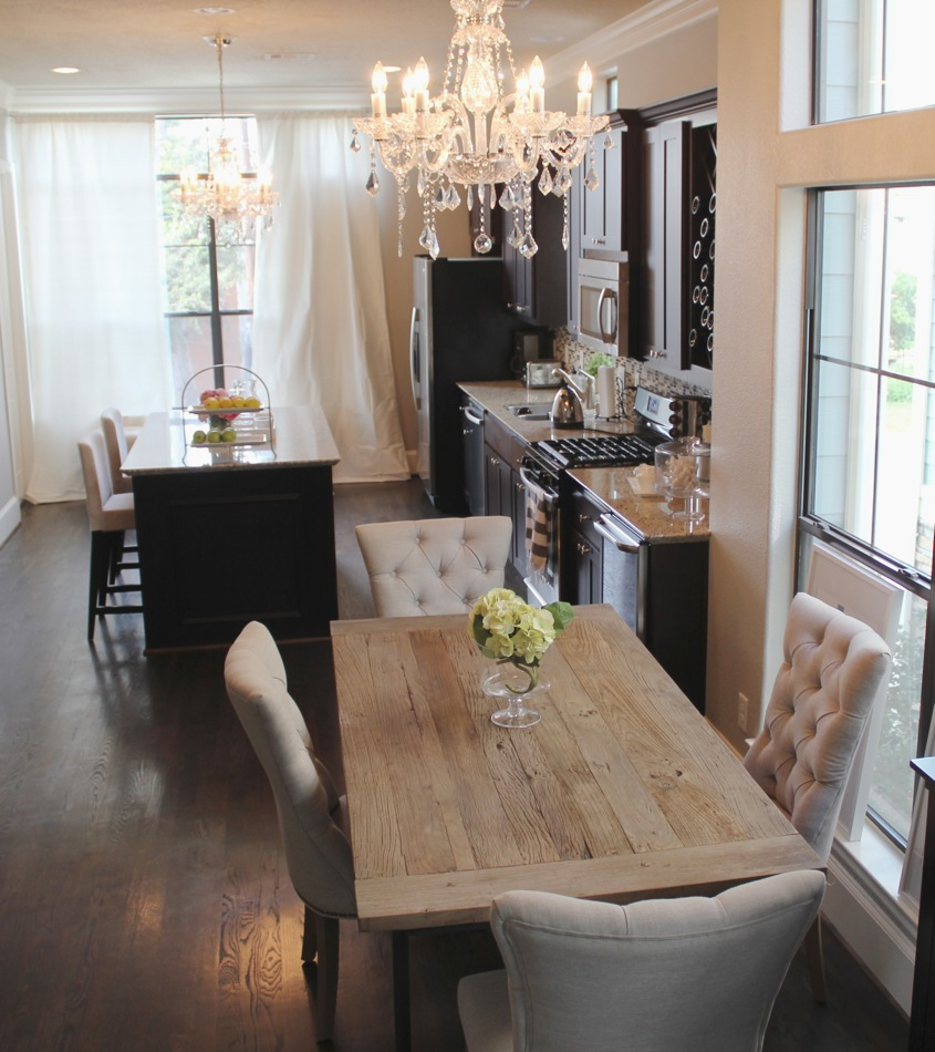 Design Restoration Hardware Drapery home updates restoration hardware curtains for the kitchen its amazing how much elegance an extra chandelier and can add to your space considering we were using 10 ready blinds from