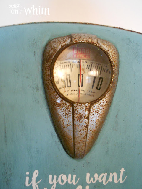 Rusty Vintage Scale Made into a Wall Hook | Denise on a Whim