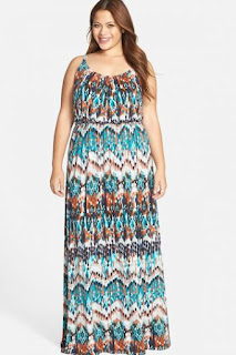 FELICITY & COCO Print Blouson Maxi Dress (Plus Size) (Shoppersfeed.com Exclusive)