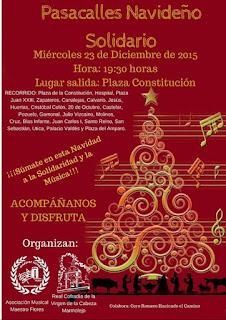 Pasacalles navideño solidario 2.015 en Marmolejo
