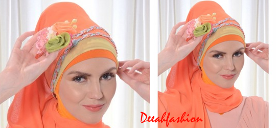 Cara Memakai Jilbab Pesta Modis