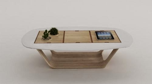 modular table integrated with Aple iPad by roberto delponte