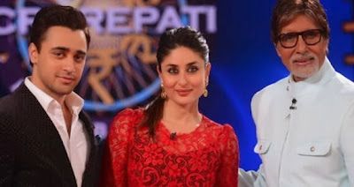 Kareena Kapoor and Imran Khan On the set of KBC
