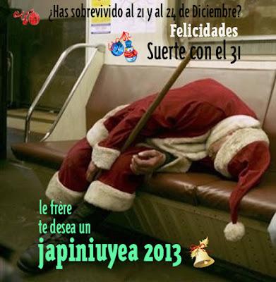 feliz año, 2013, diciembre, le frère
