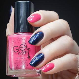 Avon Gel Finish Parfait Pink + Siberia