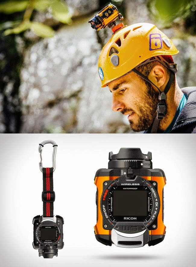 Ricoh WG-M1, underwater camera, water resistant camera, Go Pro Camera, outdoor camera, Full HD video, Wi-Fi built-in, loop recording