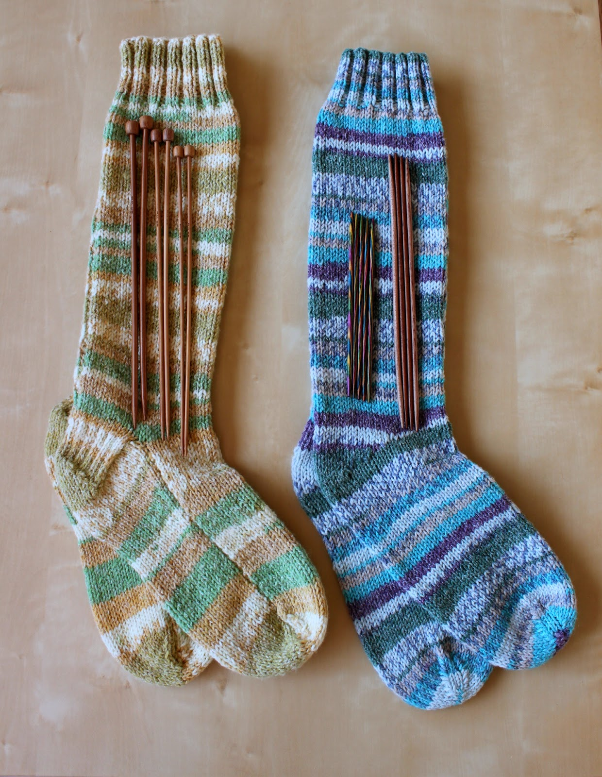 Hand Knitted Things: Sirdar Crofter DK Socks on Straight ...