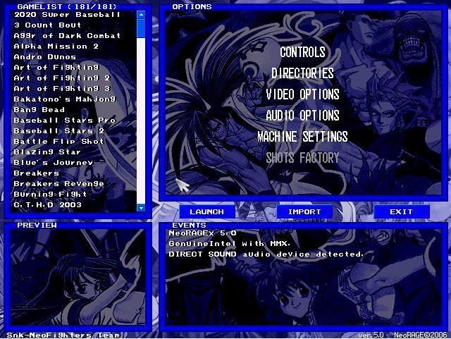 Emulador De NeoGeo V 5.0 Con 181 Roms