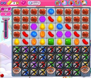 capture d'écran Candy Crush Saga - début du niveau 440