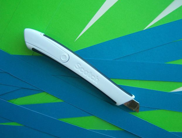 """Cut paper into 3/4"""" and 1.5"""" lengths using the Titanium Utility Knife"""