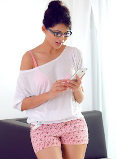 Riddhi Jain in cute pink Shorts Transparent Top Lovely Spicy Pics