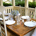 An Outdoor Dinner Party on our Porch | Blue Hydrangeas