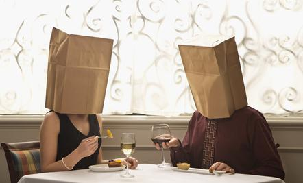 Why Men Have Trouble With Intimacy  - man woman wear bags on heads