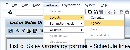 how to create variant in sap