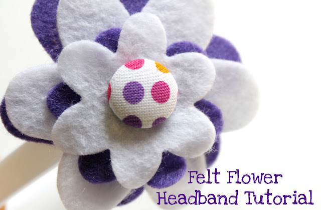 fall gifts: felt flower headband for kids