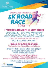 5k in Youghal... Thurs 4th March 2019