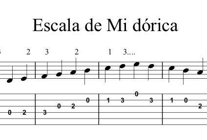 Escala Mi Dórica - Guitarra Flamenca