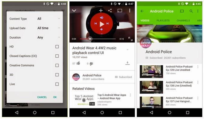 تحميل تطبيق يوتيوب الجديد لهواتف أندرويد بتصميم ماتيريال ديزاين Download youtube APK
