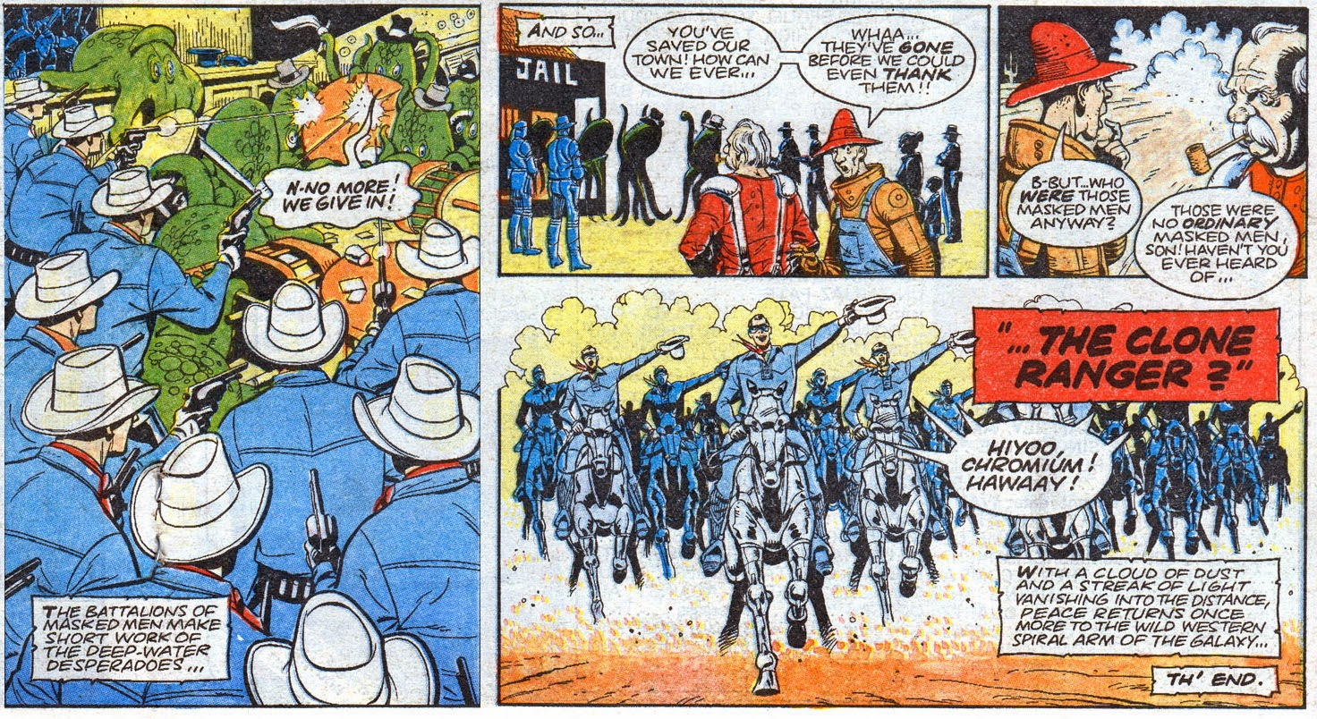 Figure 217: The Clone Ranger Dispatches Billy The Squid (