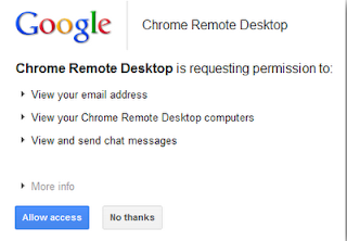 requesting permission remote desktop using chrome