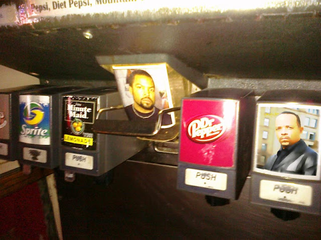 soda fountain, Ice-T, Ice Cube