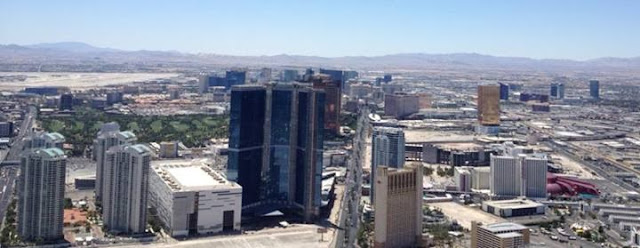 Picture of Las Vegas from on top of the Stratosphere.