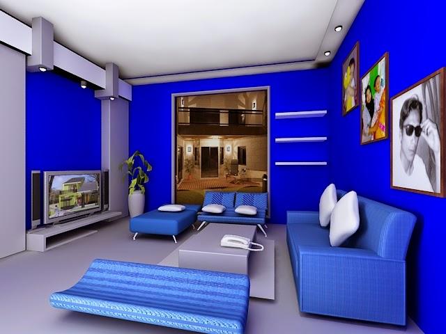 Interior Rumah Minimalis Warna Biru