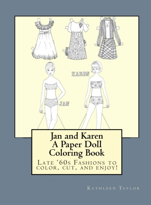 Jan and Karen- A Paper Doll Coloring Book