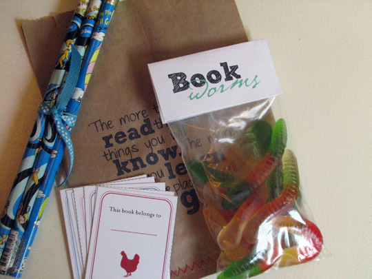 Bookworm themed party