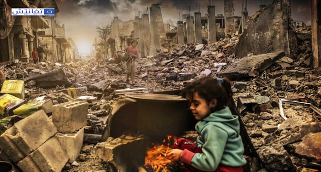 حصار مضايا وتجويع أهلها على يد قوات حزب الله وميليشيات الأسد