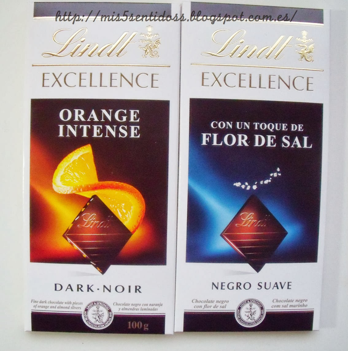 Lindt Orange intense y flor de sal Degustabox febrero 2014